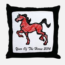 Year Of The Horse 2014 Throw Pillow