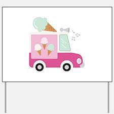 Ice Cream Truck Yard Sign