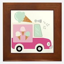 Ice Cream Truck Framed Tile