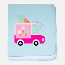 Ice Cream Truck baby blanket
