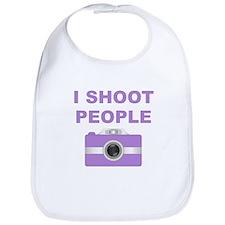 I Shoot People Purple Camera Bib