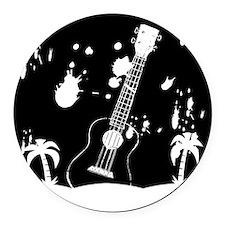Uke ukulele instrument Round Car Magnet