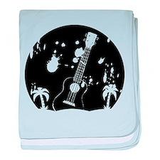 Uke ukulele instrument baby blanket
