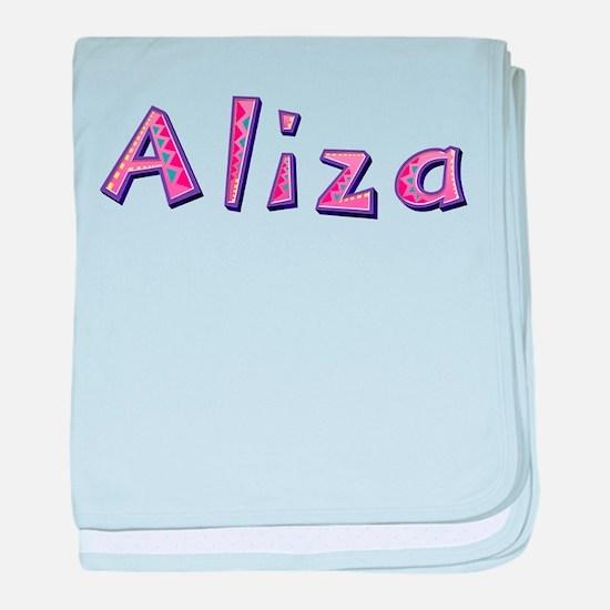 Aliza Pink Giraffe baby blanket