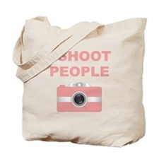 I Shoot People Pink Camera Tote Bag