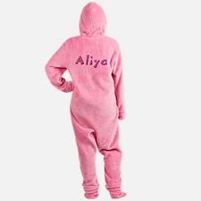 Aliya Pink Giraffe Footed Pajamas