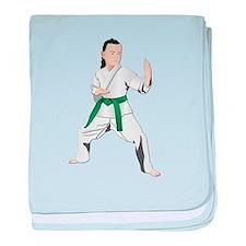 Karate - No Txt baby blanket