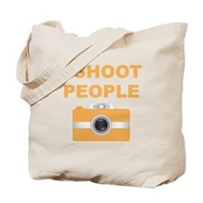 I Shoot People Orange Camera Tote Bag