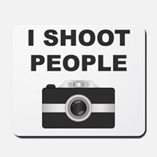 I Shoot People Black Camera Mousepad