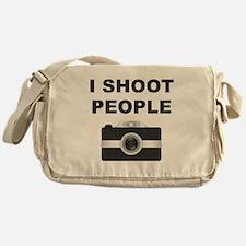 I Shoot People Black Camera Messenger Bag