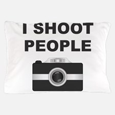 I Shoot People Black Camera Pillow Case