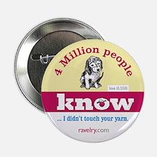 "Ravelry 4 Million Puppy 2.25"" Button (100 Pack)"