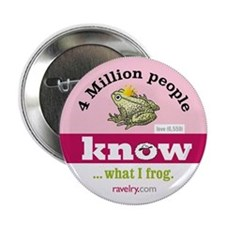 """Ravelry 4 Million Frog 2.25"""" Button (10 Pack)"""