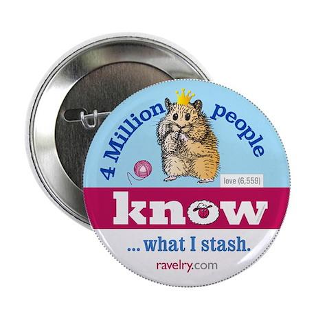 "Ravelry 4 Million Hamster 2.25"" Button (10 Pack)"