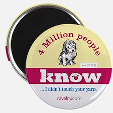 Ravelry 4 Million Puppy Magnet