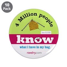 """Ravelry 4 Million My 3.5"""" Button (10 Pack)"""