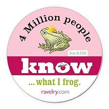 Ravelry Frog Round Round Car Magnet