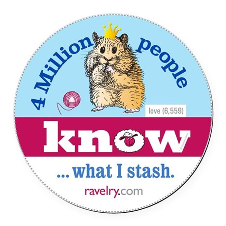Ravelry 4 Million Hamster Round Round Car Magnet