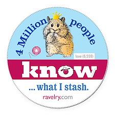 Ravelry 4 Million Hamster Round Round Car Magnet