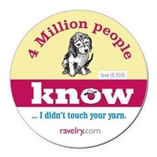 Ravelry Puppy 4 Million Round Round Car Magnet