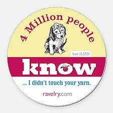 Ravelry Puppy 4 Million Round Round Car Magnet