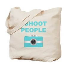 I Shoot People Aqua Camera Tote Bag