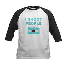 I Shoot People Aqua Camera Baseball Jersey