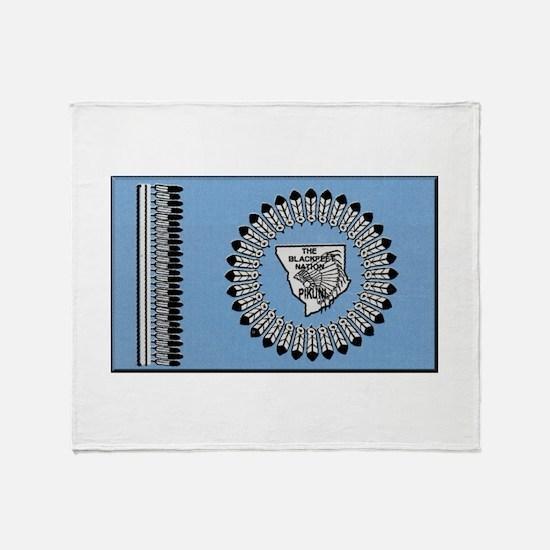 Blackfoot Tribe Throw Blanket
