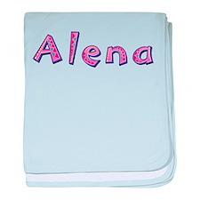 Alena Pink Giraffe baby blanket