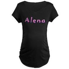 Alena Pink Giraffe Maternity T-Shirt