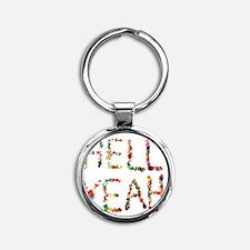 Hell Yeah Round Keychain