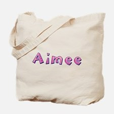 Aimee Pink Giraffe Tote Bag