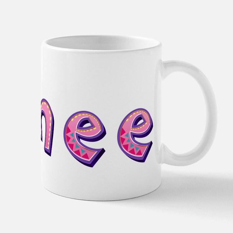 Aimee Pink Giraffe Mugs
