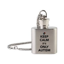 Keep Calm Autism Flask Necklace