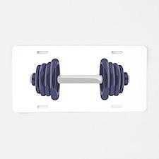 Iron Weights Aluminum License Plate