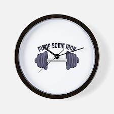 Pump Some Iron Wall Clock
