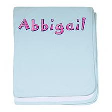 Abbigail Pink Giraffe baby blanket