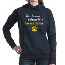 This Human Belongs To A Gordon Setter Hooded Sweat