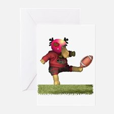 Football Moose Greeting Cards (Pk of 10)