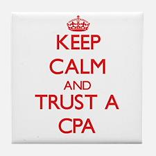 Keep Calm and Trust a Cpa Tile Coaster