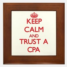 Keep Calm and Trust a Cpa Framed Tile