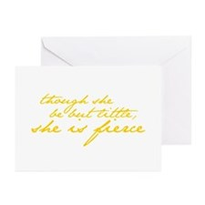 She is Fierce Shakespear Greeting Cards (Pk of 20)