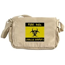 Real Men Change Diapers Messenger Bag