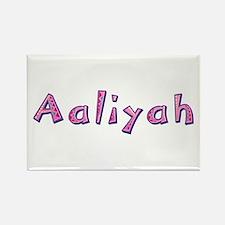 Aaliyah Pink Giraffe Rectangle Magnet