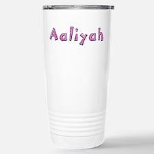 Aaliyah Pink Giraffe Stainless Steel Travel Mug