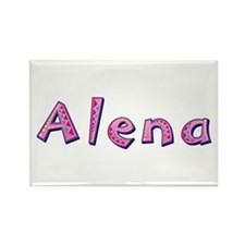 Alena Pink Giraffe Rectangle Magnet