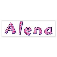 Alena Pink Giraffe Bumper Bumper Sticker