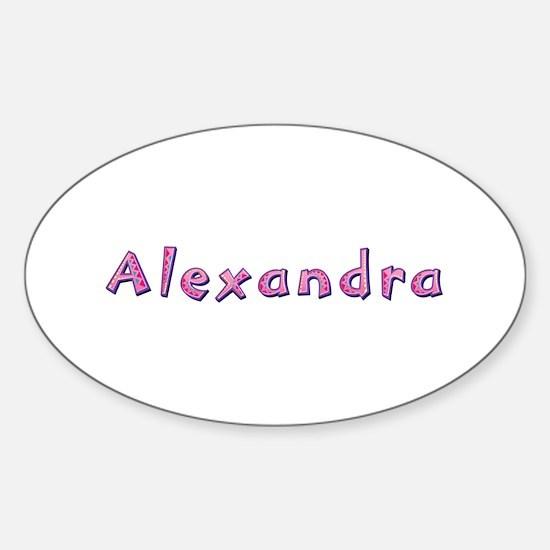 Alexandra Pink Giraffe Oval Decal
