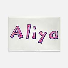 Aliya Pink Giraffe Rectangle Magnet