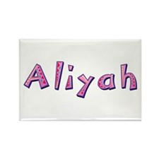 Aliyah Pink Giraffe Rectangle Magnet